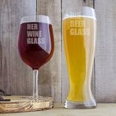 Cathy's Concepts Cathys concepts Couples 2-pc. Pilsner & Wine Glass Set