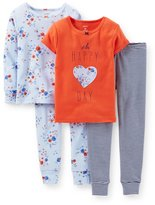 Carter's Little Girls' 4 Piece PJ Set (Toddler/Kid) -T