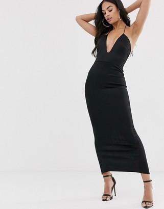 Asos Design DESIGN T Bar back detail maxi dress