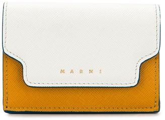 Marni colour-blocked logo coin wallet