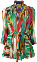 Etro patterned wrap blouse - women - Silk - 46