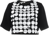 McQ by Alexander McQueen metallic disc embellished top - women - Polyester - 40