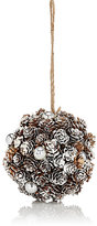 K & K Interiors Snowy Mini Pinecone Ball Ornament