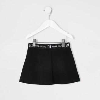River Island Mini girls Black skater skirt