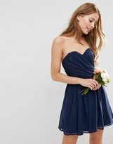 Asos Wedding Chiffon Bandeau Mini Dress