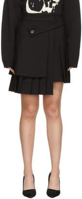 Off-White Black Formal Multipanel Miniskirt