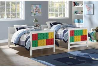 Lego Pontius Design Twin over Twin Bunk Bed Zoomie Kids