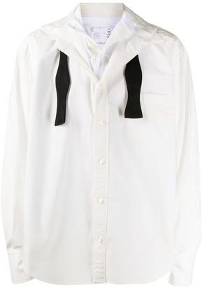 Sacai Layered Open Bow-Tie Shirt