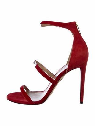 Tamara Mellon Suede Sandals Red