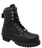 "AdTec Men's 9"" Steel-Toe Super Logger Boot"