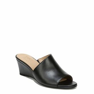 Naturalizer Womens Sansa Black Leather Slides 7 W