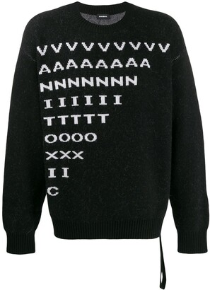 Diesel K-Moder jacquard lettering jumper