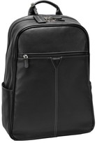 Johnston & Murphy Men's Leather Backpack - Black
