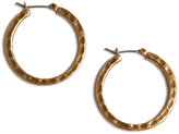 Earrings, Small Round Gold-Tone Hoop
