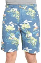 Vintage 1946 Tropical Print Shorts