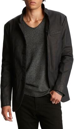 John Varvatos Men's Garment-Washed Slim-Fit Soft Jacket