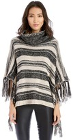 Sole Society Tassel Stripe Poncho