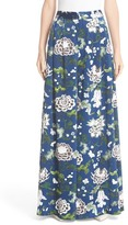 ADAM by Adam Lippes Floral Print Silk Wide Leg Pants