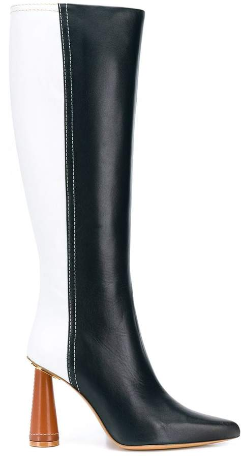 Jacquemus cone heel knee-high boots