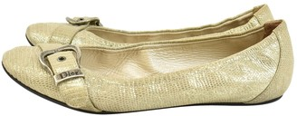 Christian Dior Beige Leather Ballet flats