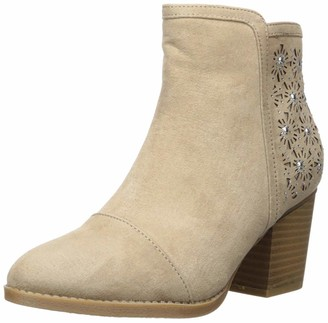 Sugar Women's Bring It Perforated Ankle Bootie with Rhinestones Boot