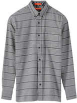 Joe Fresh Men's Striped Flannel Shirt, Grey (Size M)