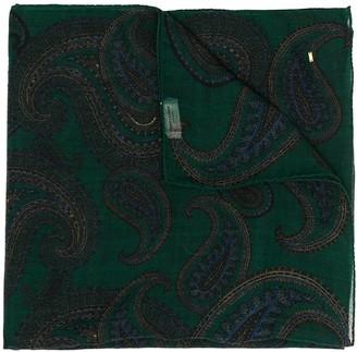 Saint Laurent large Carre paisley-pattern shawl