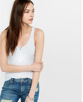 Express ribbed one eleven henley tank