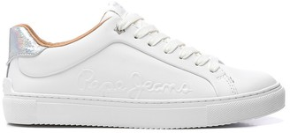 Pepe Jeans Adams Logo Leather Trainers