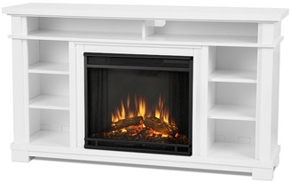 """Pottery Barn Real Flame 56.25"""" Belford Electric Fireplace Media Cabinet"""