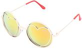 Betsey Johnson Gold Heart Round Sunglasses