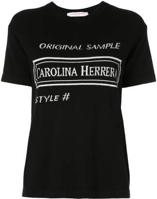 Carolina Herrera intarsia logo T-shirt