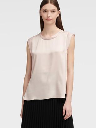 DKNY Women's Cap-sleeve Top - Blush - Size XX-Small
