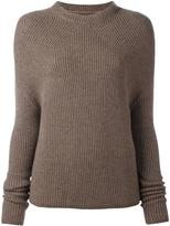 Rick Owens ribbed long sleeve jumper