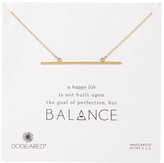 Dogeared 14K Sterling Silver Balance Textured Beam Necklace