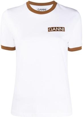 Ganni logo print short-sleeve T-shirt