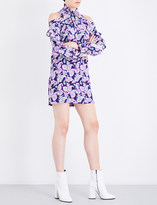 Sandro Paisley-print silk dress