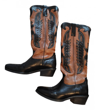 C.b. Made In Italy Black Leather Boots