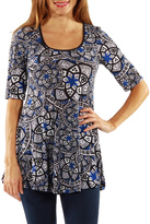 24/7 Comfort Apparel Magic Tunic Top