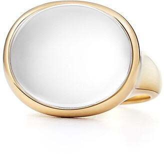 Tiffany & Co. Elsa Peretti Cabochon ring in 18k gold with rock crystal, mini