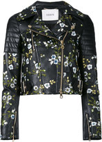 Erdem embroidered cropped jacket - women - Silk/Leather - 8