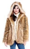 Donna Salyers' Fabulous-Furs Hooded Coat Gold Fox.