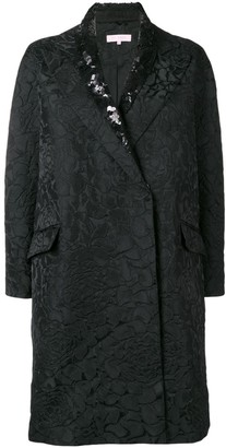 Dice Kayek Sequin Collared Coat
