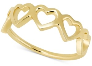 Sarah Chloe Love Count Hearts Ring in 14k Gold-Plate Over Sterling Silver