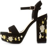 Charlotte Russe Embroidered Two-Piece Platform Sandals