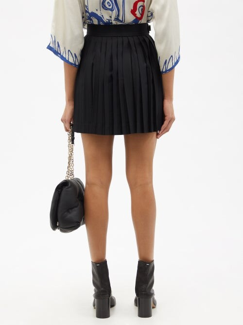 Thumbnail for your product : Charles Jeffrey Loverboy Buckled Pleated Wool-twill Kilt Skirt - Black