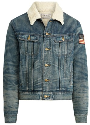 Ralph Lauren Cowboy-Print Denim Jacket