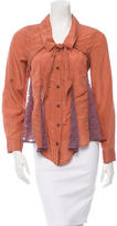 Rachel Comey Lace-Accented Button-Up Top w/ Tags