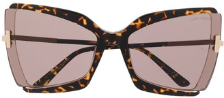Tom Ford Oversized Cat Eye Sunglasses