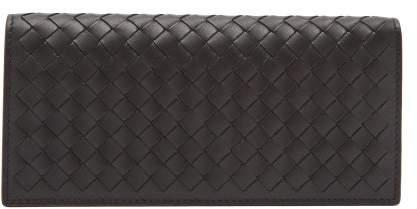 Bottega Veneta Intrecciato Leather Wallet - Mens - Black